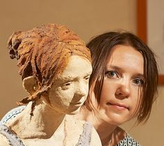 Photo of French Jurga Sculpteur and her art Ceramic Figures, Ceramic Artists, Statues, Sculptures Céramiques, Artists And Models, Art Studios, Figurative Art, Pottery Art, Female Art