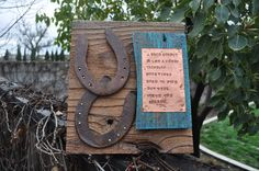 Cowboy art horseshoe art Fathers Day Gift by heartifactsgallery, $65.00