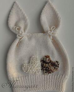 Яндекс.Фотки Baby Hats Knitting, Knitting For Kids, Baby Knitting Patterns, Baby Patterns, Knitted Hats, Crochet Bunny, Knit Crochet, Crochet Hats, Layette Pattern