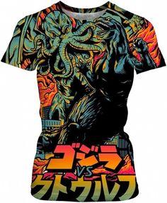 Godzilla VS Cthulhu Comic Time Art by Willy Badu.