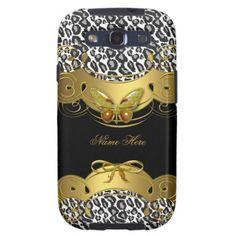Elegant Gold Black White Butterfly Animal Galaxy S3 Case