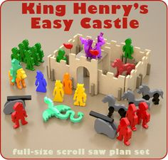King Henry's Easy Castle Wood Toy Scroll Saw Plan Set