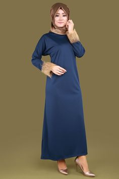 Peluşlu Tesettür Elbise İndigo Ürün Kodu: BH2221 --> 49.90 TL