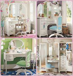 Vanities perfect for a Tweens or teens room