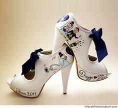 Sanemiko ''Just Married'' Wedding Sneakers, Wedding Heels, Wedding Rings, Plan My Wedding, Wedding Book, Dream Wedding, Wedding Stuff, Wedding Dreams, High Heel Sneakers
