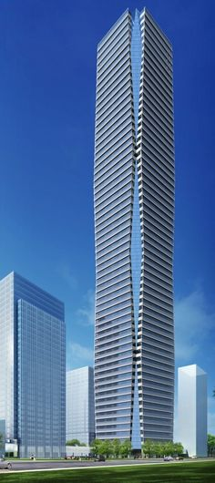 Zhenru Center, Shanghai, China by Kohn Pedersen Fox Associates :: 40 floors, height 330m, proposal