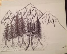 Drawing of the mountains