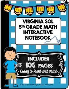 5TH Grade Math Virginia SOL Interactive Notebook