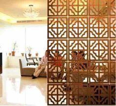 painel madeira vazado - Proposta para a divisória de ambientes