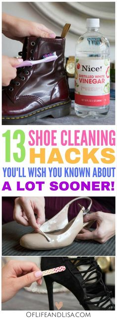 These shoe cleaning hacks are brilliant! I wish I knew about these a lot sooner. #CleaningHack