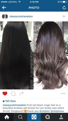 Ash brown ombré hair