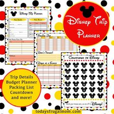 Are you planning a trip to Disney soon? If so, come download this cute and free printable Disney vacation planner to make sure your trip is a success! :: todaysfrugalmom.com