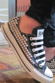 900b828f4b95 Converse + studs  match made in heaven! I think you could make this a diy  with an old pair of converse and some studs from a crafts store  )
