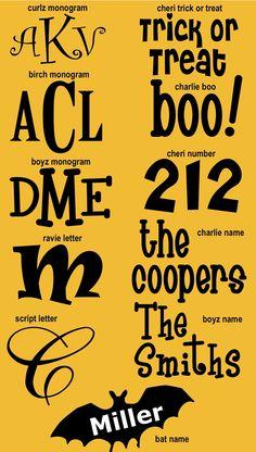 Halloween Decal Pumpkin Vinyl Monograms.