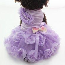 Nova chegada do Cão de Estimação Da Princesa Vestido Tutu Roseta & bow Vestidos de Gato Filhote de Cachorro roupas Saia 2 cores alishoppbrasil