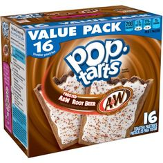 Kellogg's Pop-Tarts Frosted A&W Root Beer Toaster Pastries, 16 count, 28.2…