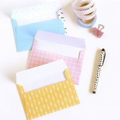 How to make business card envelopes crafty 2 the corediy galore send your letters in style with these free printable patterned envelopes reheart Gallery