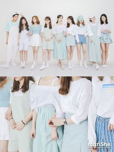 Similar Look by Color The Similar Look:Popular fashiont trend in KoreaTwinning with your girlfriends without actually looking like twins      Pastel Pink    Pastel Blue    Blue/Denim    Navy    Red