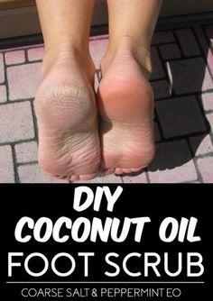 coconut oil foot scrub