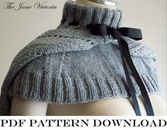 Hooded mozette Knitting PATTERN Silmarwen par TheJaneVictoria