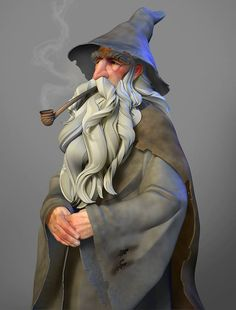 Awesome wizard painting by FridayEve on zBrushCentral