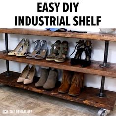 5 Portentous Useful Tips: Industrial House Open Concept industrial landscape outdoor lighting.Industrial Chic Living Room industrial shelving for tv. Industrial Shoe Rack, Industrial Shelving, Industrial Bathroom, Industrial House, Rustic Industrial, Industrial Furniture, Cool Furniture, Furniture Ideas, Furniture Stores