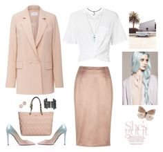 """""""Pastel Pretty"""" by musicfriend1 on Polyvore featuring River Island, T By Alexander Wang, Carven, Prada, Karl Lagerfeld, Dana Rebecca Designs, Boutique+, lovethis and pastel"""