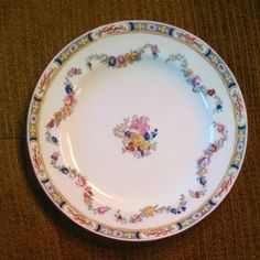 Minton China Floral Swag Rose Pattern A8407 Salad by ShmaltzMart, $13.00