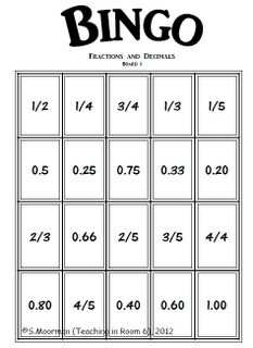 211-220 Expresses a simple fraction as a decimal