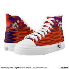 Hummingbird Flight Sunset Blush Shoes Printed Shoes