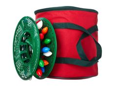 Wrapping strands of lights around reels now will ensure you don't spend hours untangling knots next year. EZ Roll holiday lights reels and bag, $15, target.com