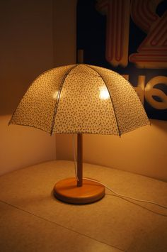 Vintage Umbrella Lamp Made in Europe 23H by stukinmidcentury, $45.00