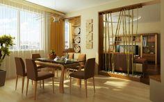 séparateur de pièce design en bambou