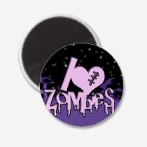 I Love Zombies Magnet magnets