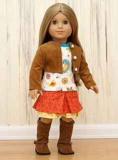 American Girl Doll Clothes-Fall Harvest