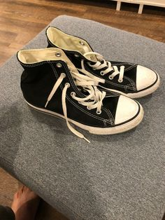 d8d1ce64aa1f6 Navy Converse High Tops Youth Size 3 Chuck Taylor All Stars  fashion   clothing