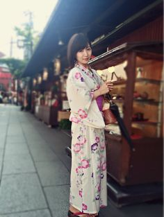 Embedded image Yukata Kimono, Kimono Top, Image, How To Wear, Tops, Women, Fashion, Moda, Fashion Styles