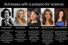 Women and science, just one reason to encourage everyone equally.