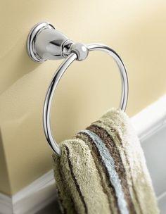 Master Bath Towel Rings - Moen Brantford in Chrome