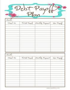 Printables Debt Worksheet debt snowball and worksheets on pinterest