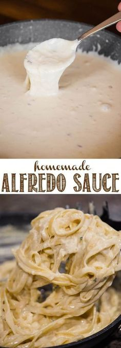 Alfredo sauce is a rich and creamy white sauce made with garlic, butter, heavy cream, and parmesan. alfredo sauce boursin Homemade Alfredo Sauce Recipe and Video White Sauce Recipes, Pasta Sauce Recipes, Cream Cheese Recipes, Recipe Pasta, Cream Cheeses, Heavy Cream Recipes, Recipes With Pasta, Homemade Heavy Cream, Recipe 30