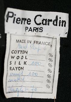 "1969 [label] ""Pierre Cardin"" Tag Design, Label Design, Branding Design, Vintage Tags, Vintage Labels, Vintage Clip, Ringo Starr, Digital Paper Free, Digital Papers"