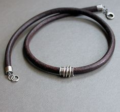 leather necklace by lynntodddesigns on etsy