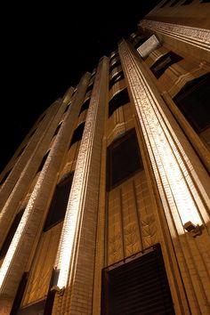 ERCO's Grasshopper fixture illuminates Walker Tower, New York / USA