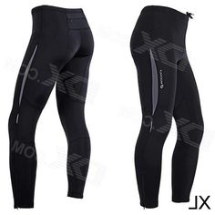 Nuckily ZM096 Elastic Fiber Sports Cycling Trousers for Men - Black (Size-XL)