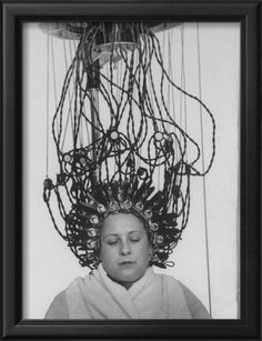 I feel pretty. Perfect bathroom art. Woman at Hairdressing Salon Getting a Permanent Wave Framed Photographic Print by Alfred Eisenstaedt at Art.com