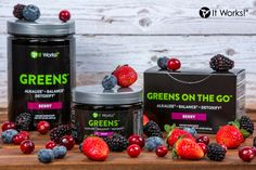 Try our greens with 8 full serving of fruit and vegetables . In yummy berry or orange flavours It Works Global, My It Works, It Works Triple Threat, It Works Greens, Energy Oils, Up Auto, It Works Distributor, Independent Distributor, Health And Wellness
