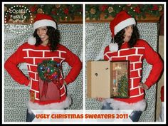 She's a brick house with a shoe box. | Community Post: 10 Awesome DIY Ugly Sweater Ideas