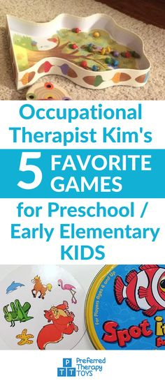 Occupational therapist 5 favorite games for preschool/ early elementary/ kids. Mental Health Occupational Therapy, Occupational Therapy Activities, Therapy Games, Occupational Therapist, Physical Education, Therapy Ideas, Speech Therapy, Toddler Fun, Preschool Activities