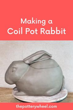 Coil pottery is very versatile.  It need not be about simple vases and bowls.  Coil pots can be used as the basis of modeling and sculptural projects.    Check out my video on how I made this coil pot rabbit pot.  You can adapt the technique to make any animal or shape of your choice. Sculpture Projects, Ceramics Projects, Sculpture Clay, Pottery Lessons, Pottery Classes, Pottery Handbuilding, Raku Pottery, Ceramic Sculpture Figurative, Beginner Pottery